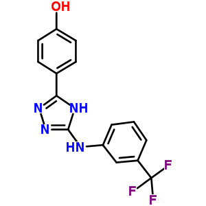 877874-79-8 4-[5-[3-(trifluoromethyl)anilino]-4H-1,2,4-triazol-3-yl]phenol