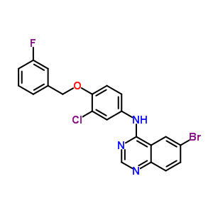944549-41-1 6-bromo-N-[3-chloro-4-[(3-fluorophenyl)methoxy]phenyl]quinazolin-4-amine