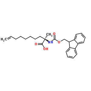 945212-26-0 (2R)-2-(9H-fluoren-9-ylmethoxycarbonylamino)-2-methyl-dec-9-enoic acid
