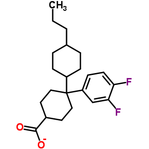 94840-77-4 4-(3,4-difluorophenyl)-4-(4-propylcyclohexyl)cyclohexanecarboxylate