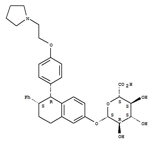 1048953-95-2 b-D-Glucopyranosiduronic acid,(5R,6S)-5,6,7,8-tetrahydro-6-phenyl-5-[4-[2-(1-pyrrolidinyl)ethoxy]phenyl]-2-naphthalen