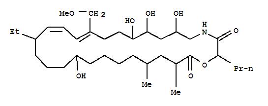 116003-11-3 1-Oxa-4-azacyclooctacosa-12,14-diene-3,28-dione,16-ethyl-6,8,9,20-tetrahydroxy-12-(methoxymethyl)-25,27-dimethyl-2-propyl-(9CI)