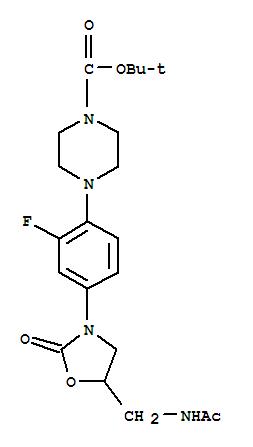 154591-03-4 1-Piperazinecarboxylicacid, 4-[4-[5-[(acetylamino)methyl]-2-oxo-3-oxazolidinyl]-2-fluorophenyl]-,1,1-dimethylethyl ester