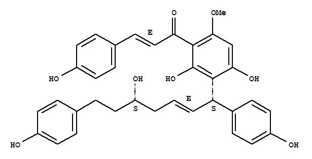164991-53-1 2-Propen-1-one,1-[2,4-dihydroxy-3-[(1S,2E,5S)-5-hydroxy-1,7-bis(4-hydroxyphenyl)-2-hepten-1-yl]-6-methoxyphenyl]-3-(4-hydroxyphenyl)-,(2E)-
