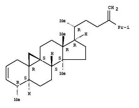 10022-38-5 9,19-Cyclo-5a,9b-ergosta-2,24(28)-diene, 4a,14-dimethyl- (8CI)