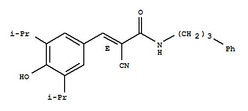 168835-82-3 2-Propenamide,2-cyano-3-[4-hydroxy-3,5-bis(1-methylethyl)phenyl]-N-(3-phenylpropyl)-, (2E)-