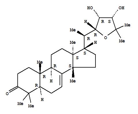 16962-90-6 Lanost-7-en-3-one,22,25-epoxy-23,24-dihydroxy-, (13a,14b,17a,20R,22R,23R,24S)-