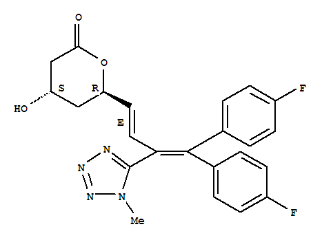118845-59-3 2H-Pyran-2-one,6-[(1E)-4,4-bis(4-fluorophenyl)-3-(1-methyl-1H-tetrazol-5-yl)-1,3-butadien-1-yl]tetrahydro-4-hydroxy-,(4R,6S)-rel-
