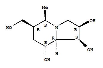205868-15-1 1,2,8-Indolizinetriol,octahydro-6-(hydroxymethyl)-5-methyl-, (1S,2R,5R,6R,8R,8aR)-