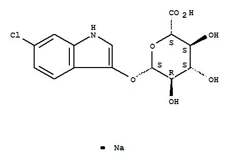 216971-56-1 b-D-Glucopyranosiduronic acid,6-chloro-1H-indol-3-yl, monosodium salt (9CI)
