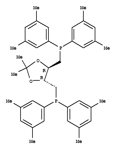 220196-29-2 Phosphine,[[(4R,5R)-2,2-dimethyl-1,3-dioxolane-4,5-diyl]bis(methylene)]bis[bis(3,5-dimethylphenyl)-,rel-(+)- (9CI)