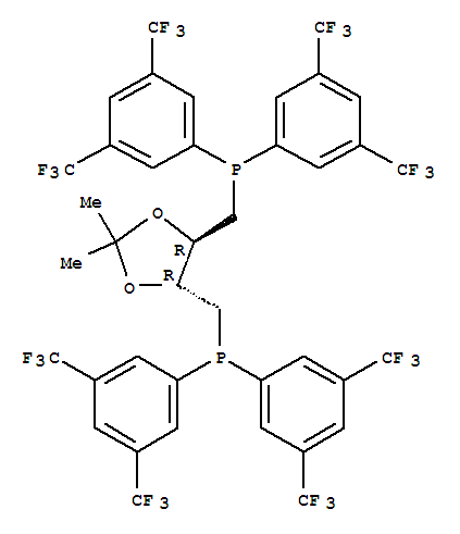 220196-30-5 Phosphine,[[(4R,5R)-2,2-dimethyl-1,3-dioxolane-4,5-diyl]bis(methylene)]bis[bis[3,5-bis(trifluoromethyl)phenyl]-,rel-(-)- (9CI)