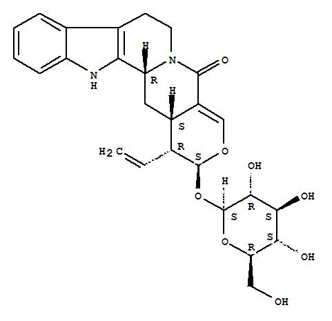 23141-27-7 Oxayohimban-21-one,19,20-didehydro-16-ethenyl-17-(b-D-glucopyranosyloxy)-, (3b,15b,16a,17b)-