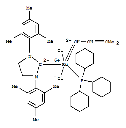 253688-91-4 Ruthenium,[1,3-bis(2,4,6-trimethylphenyl)-2-imidazolidinylidene]dichloro(3-methyl-2-buten-1-ylidene)(tricyclohexylphosphine)-,(SP-5-41)-