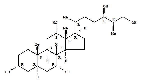27857-11-0 Cholestane-3,7,12,24,26-pentol,(3a,5a,7a,12a,24R,25R)- (9CI)