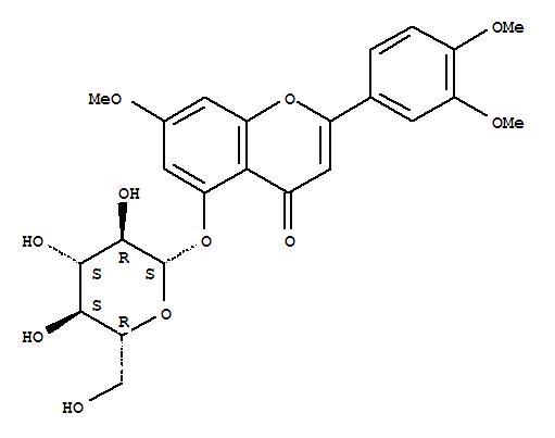 221289-20-9 4H-1-Benzopyran-4-one,2-(3,4-dimethoxyphenyl)-5-(b-D-glucopyranosyloxy)-7-methoxy-