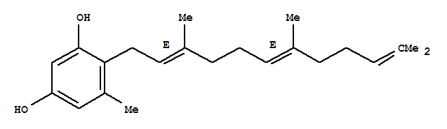 23665-96-5 1,3-Benzenediol,5-methyl-4-[(2E,6E)-3,7,11-trimethyl-2,6,10-dodecatrien-1-yl]-