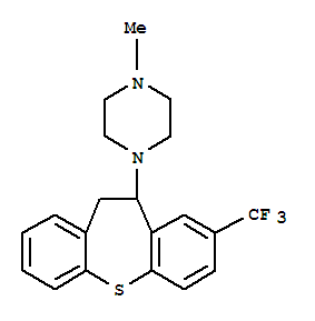 24495-62-3 Piperazine,1-[10,11-dihydro-8-(trifluoromethyl)dibenzo[b,f]thiepin-10-yl]-4-methyl-