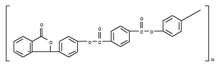 24938-86-1;889852-02-2 Poly[(3-oxo-1(3H)-isobenzofuranylidene)-1,4-phenyleneoxycarbonyl-1,4-phenylenecarbonyloxy-1,4-phenylene]