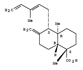 2761-77-5 1-Naphthalenecarboxylicacid, decahydro-1,4a-dimethyl-6-methylene-5-(3-methyl-2,4-pentadienyl)-,(1S,4aR,5S,8aR)-