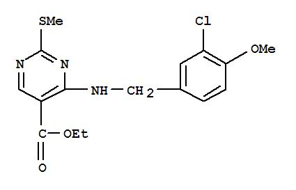 4-(3-氯-4-甲氧基苯氨基)-5-乙氧基羰基-2-甲基噻嘧啶