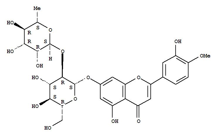 38665-01-9 4H-1-Benzopyran-4-one,7-[[2-O-(6-deoxy-a-L-mannopyranosyl)-b-D-glucopyranosyl]oxy]-5-hydroxy-2-(3-hydroxy-4-methoxyphenyl)-