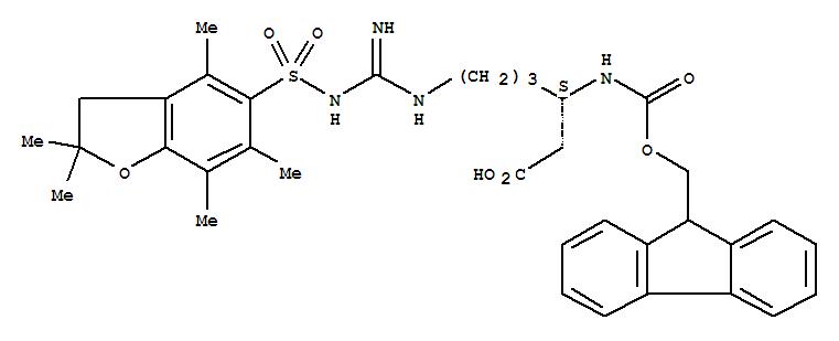 401915-53-5 Hexanoic acid,6-[[[[(2,3-dihydro-2,2,4,6,7-pentamethyl-5-benzofuranyl)sulfonyl]amino]iminomethyl]amino]-3-[[(9H-fluoren-9-ylmethoxy)carbonyl]amino]-,(3S)-