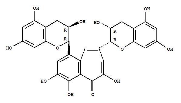 4670-05-7 5H-Benzocyclohepten-5-one, 1,8-bis[(2R,3R)-3,4-dihydro-3,5,7-trihydroxy-2H-1-benzopyran-2-yl]-3,4,6-trihydroxy-