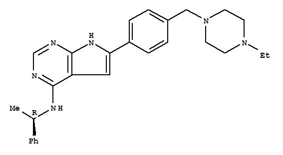 497839-62-0 7H-Pyrrolo[2,3-d]pyrimidin-4-amine,6-[4-[(4-ethyl-1-piperazinyl)methyl]phenyl]-N-[(1R)-1-phenylethyl]-