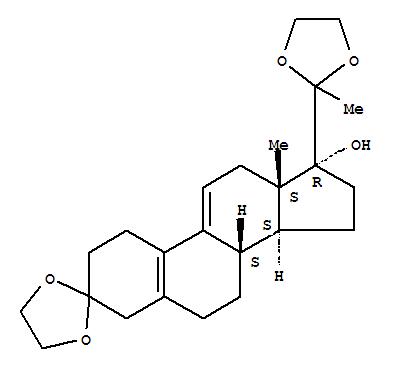 3,20-双(亚乙二氧基)-19-去甲孕甾-5(10),9(11)二烯-17-醇 54201-84-2