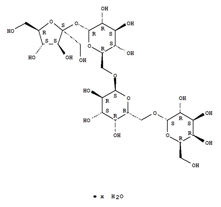 54261-98-2 a-D-Glucopyranoside, b-D-fructofuranosyl O-a-D-galactopyranosyl-(1®6)-O-a-D-galactopyranosyl-(1®6)-, hydrate (9CI)