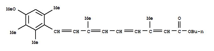 9-(4-Methoxy-2,3,6-trimethyl-phenyl)-3,7-dimethyl-nona-2,4,6,8-tetraen-l-oic acid butyl ester 54757-45-8
