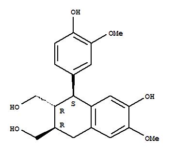 548-29-8 2,3-Naphthalenedimethanol,1,2,3,4-tetrahydro-7-hydroxy-1-(4-hydroxy-3-methoxyphenyl)-6-methoxy-,(1S,2R,3R)-