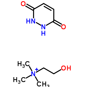 61167-10-0 1,2-dihydropyridazine-3,6-dione; 2-hydroxyethyl-trimethyl-ammonium