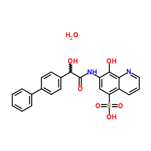 63680-67-1 7-{[biphenyl-4-yl(hydroxy)acetyl]amino}-8-hydroxyquinoline-5-sulfonic acid hydrate