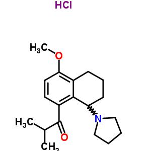 63886-32-8 1-(4-methoxy-8-pyrrolidin-1-yl-5,6,7,8-tetrahydronaphthalen-1-yl)-2-methylpropan-1-one hydrochloride