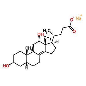 63949-02-0 sodium (3alpha,5beta,9xi,12alpha)-3,12-dihydroxychol-8(14)-en-24-oate