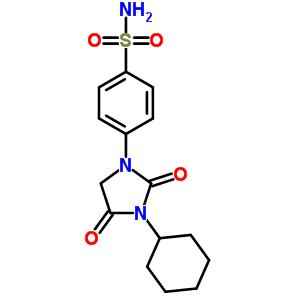 65513-56-6 4-(3-cyclohexyl-2,4-dioxoimidazolidin-1-yl)benzenesulfonamide
