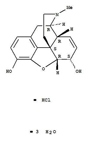 6055-06-7 Morphinan-3,6-diol,7,8-didehydro-4,5-epoxy-17-methyl- (5a,6a)-, hydrochloride, hydrate (1:1:3)