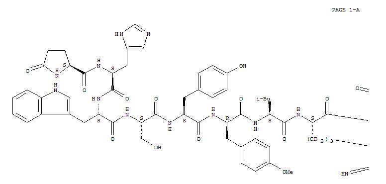 65807-01-4 Luteinizinghormone-releasing factor (swine), 6-(O-methyl-D-tyrosine)-10-deglycinamide-,2-(aminocarbonyl)hydrazide (9CI)