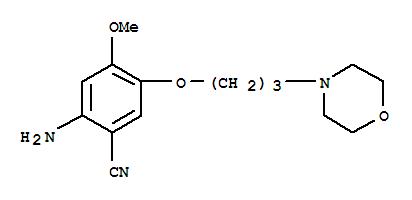 675126-27-9 2-Amino-4-methoxy-5-(3-morpholinopropoxy)benzonitrile
