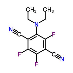 67205-69-0 2-(diethylamino)-3,5,6-trifluorobenzene-1,4-dicarbonitrile