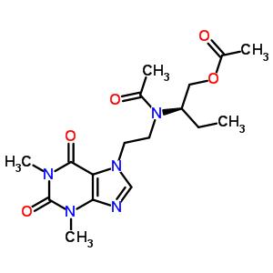 69463-38-3 (2R)-2-{acetyl[2-(1,3-dimethyl-2,6-dioxo-1,2,3,6-tetrahydro-7H-purin-7-yl)ethyl]amino}butyl acetate