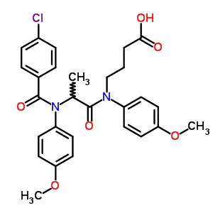 71455-77-1 4-[{N-[(4-chlorophenyl)carbonyl]-N-(4-methoxyphenyl)alanyl}(4-methoxyphenyl)amino]butanoic acid