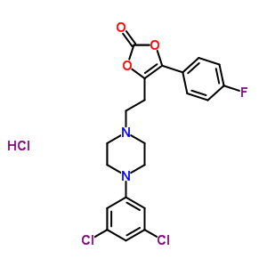 71923-04-1 4-{2-[4-(3,5-dichlorophenyl)piperazin-1-yl]ethyl}-5-(4-fluorophenyl)-1,3-dioxol-2-one hydrochloride