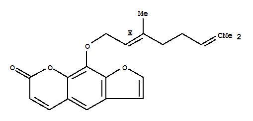 7437-55-0 7H-Furo[3,2-g][1]benzopyran-7-one, 9-[[(2E)-3,7-dimethyl-2,6-octadien-1-yl]oxy]-