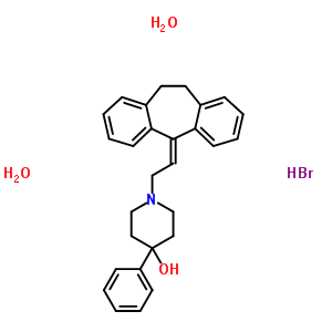 73816-89-4 1-[2-(10,11-dihydro-5H-dibenzo[a,d][7]annulen-5-ylidene)ethyl]-4-phenylpiperidin-4-ol hydrobromide dihydrate
