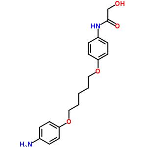 102009-04-1 N-(4-{[5-(4-aminophenoxy)pentyl]oxy}phenyl)-2-hydroxyacetamide