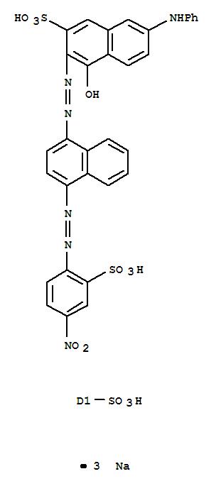 8004-75-9 2-Naphthalenesulfonicacid, 4-hydroxy-3-[[4-[(4-nitro-2-sulfophenyl)azo]-6(or7)-sulfo-1-naphthalenyl]azo]-7-(phenylamino)-, trisodium salt (9CI)