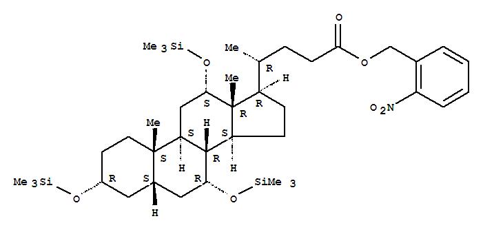 80500-44-3 Cholan-24-oic acid,3,7,12-tris[(trimethylsilyl)oxy]-, (2-nitrophenyl)methyl ester, (3a,5b,7a,12a)- (9CI)